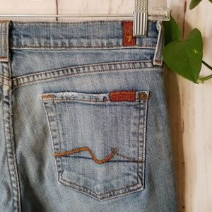 Seven For All Mankind bootcut distressed jeans